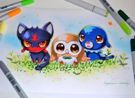 New Starter Pokemon by Lighane