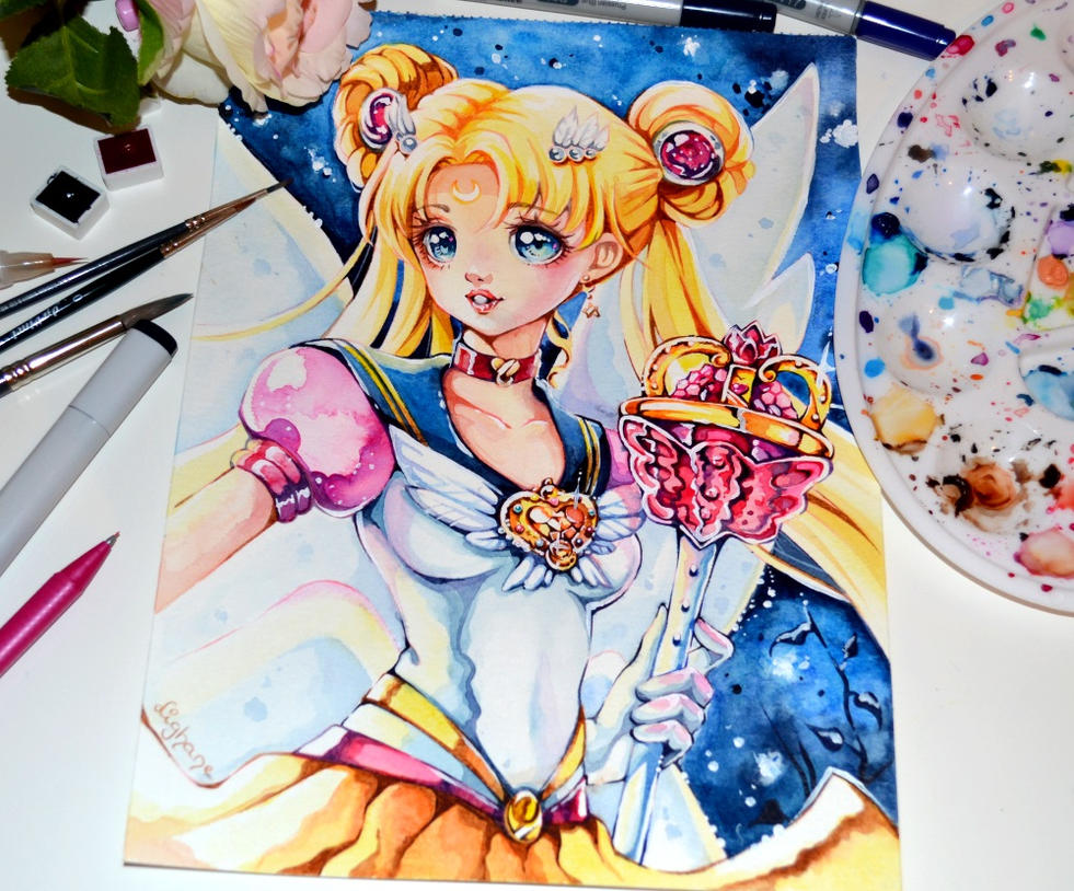 Eternal Sailor Moon by Lighane on DeviantArt Da Vinci Paintings