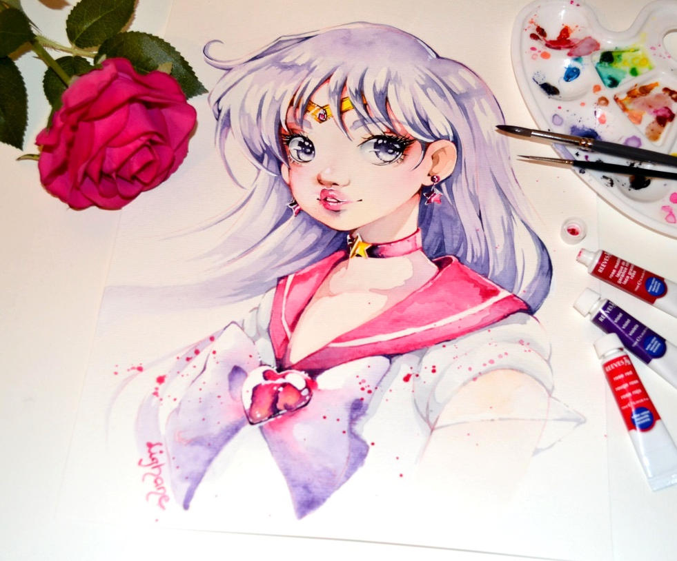 how to draw sailor mars