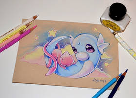 Stars and the Mew-n by Lighane