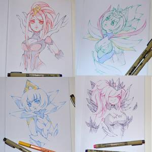 Elementalist Lux Doodles