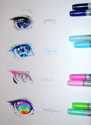 Colorful Eyes by Lighane