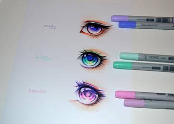 Colorful Manga Eyes