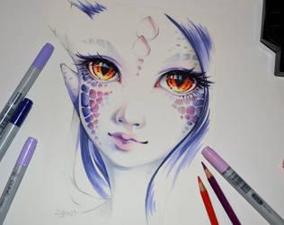 Dragonborn Beth by Lighane