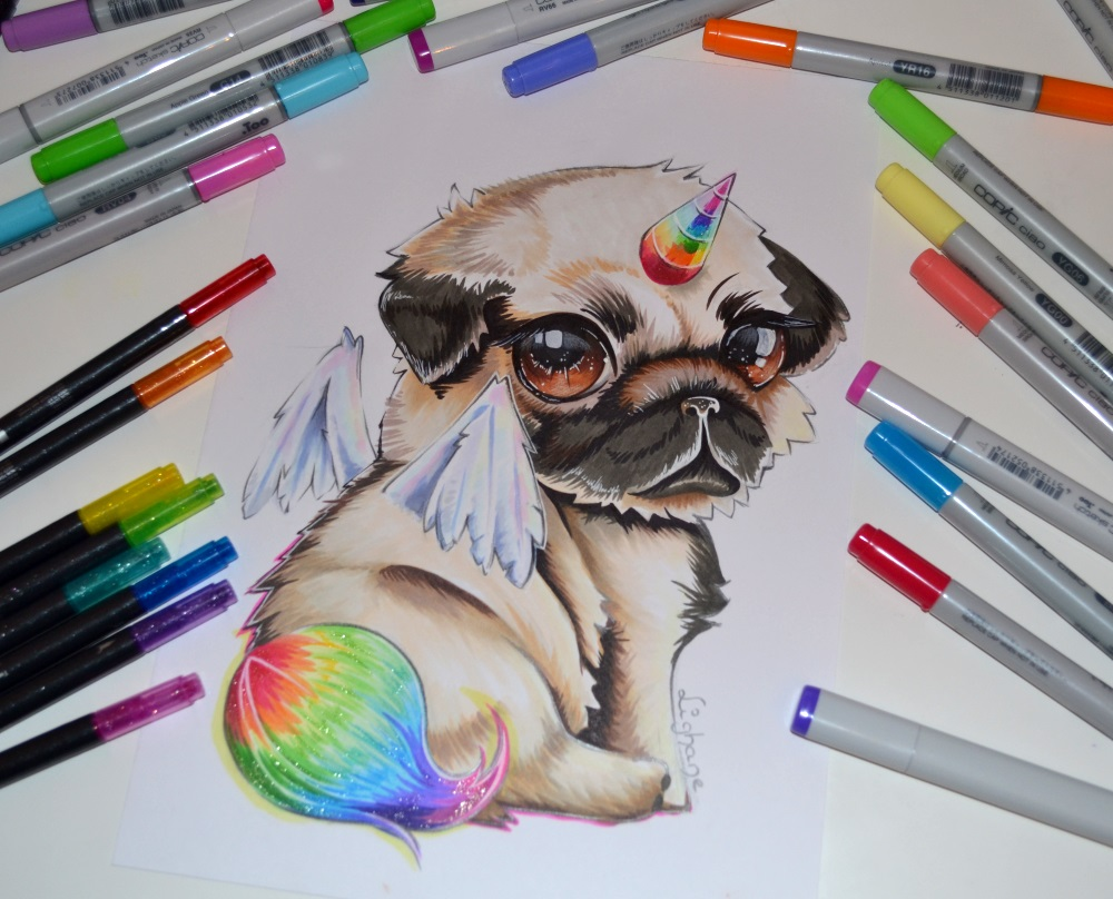 Pugasus by lighane on deviantart for Disegni con copic