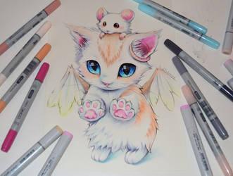 Angel Kitty by Lighane