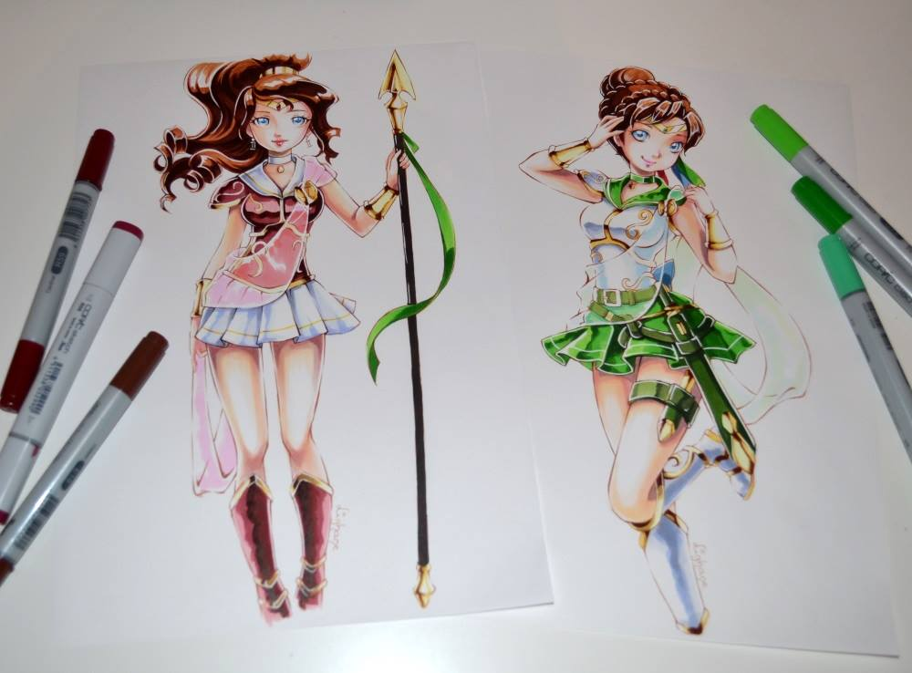 Sailor Scout OCs by Lighane