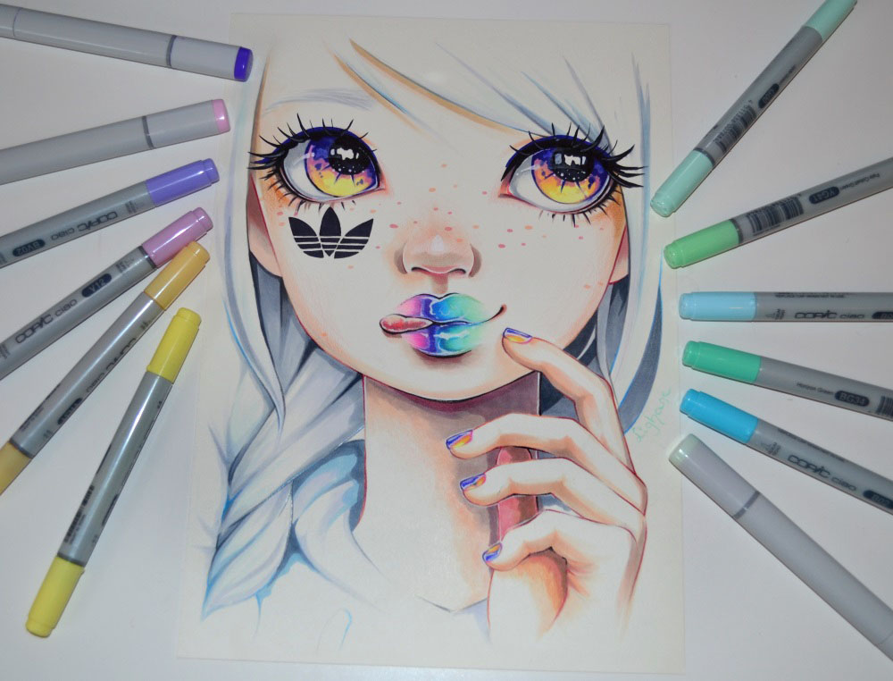Adidas Superstar Girl by Lighane