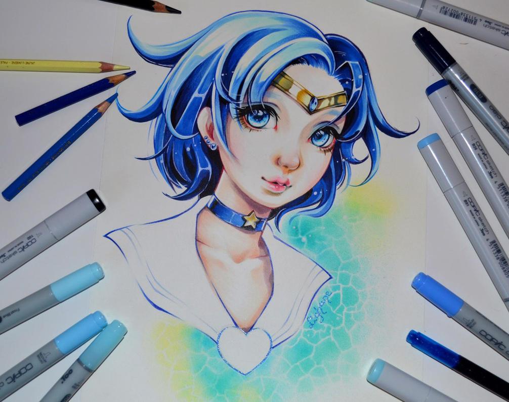 Sailor Mercury by Lighane