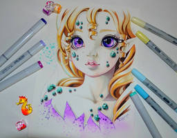 Nadira the Gem Elf by Lighane