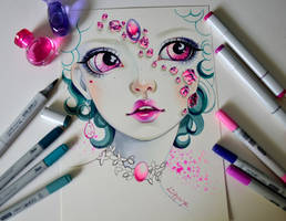 Pink Tourmaline by Lighane