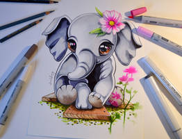 Elephant - did not fit - in a Box by Lighane