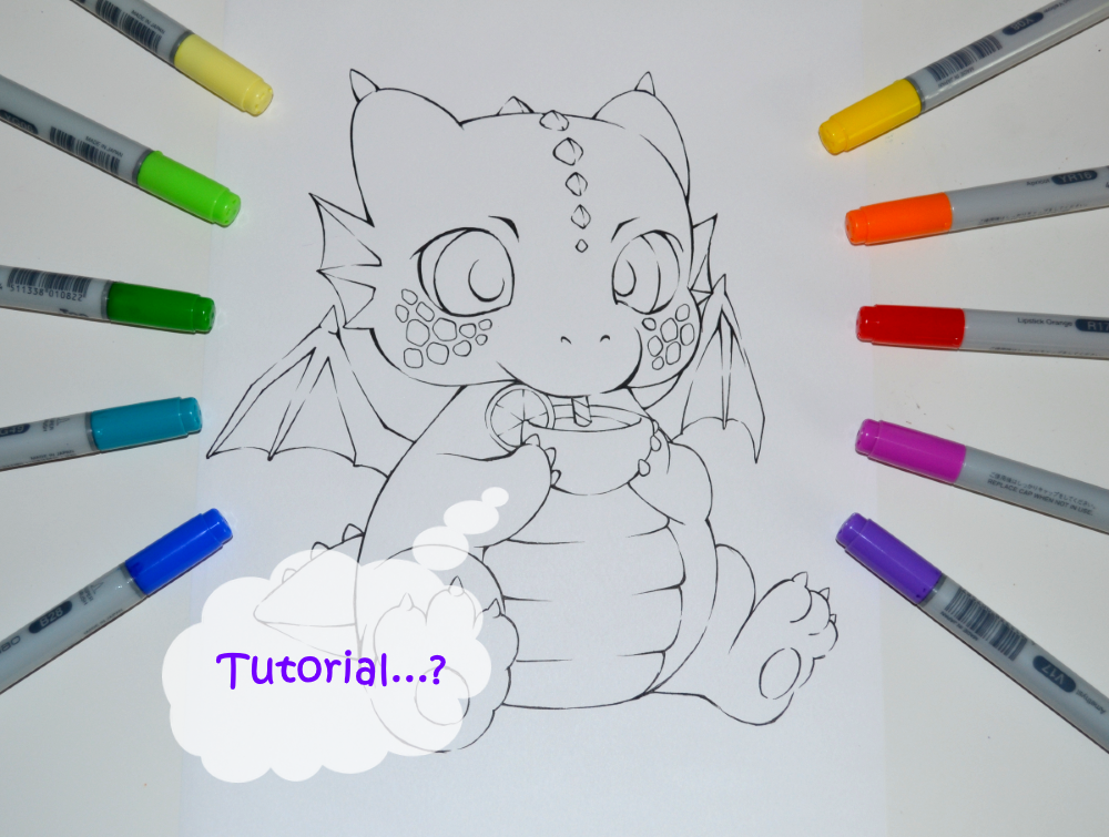Coloring Book Tutorial By Lighane