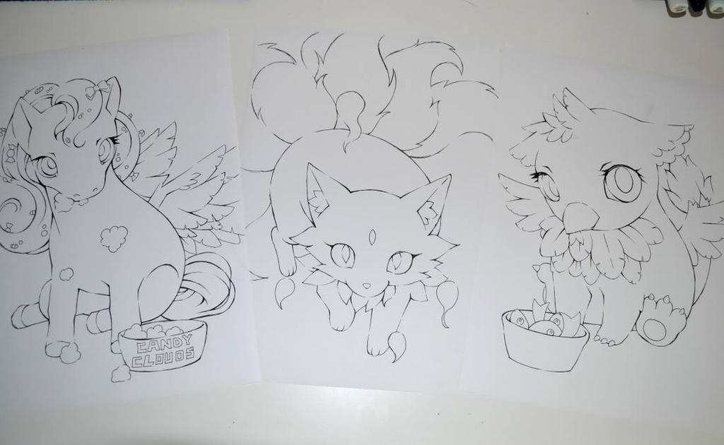 cute critters for my coloring book by lighane
