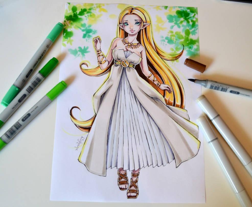 Zelda - Tutorial in my Coloring Book by Lighane