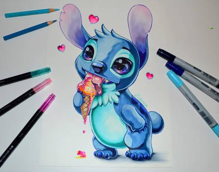 Stitch with yummy Ice Cream