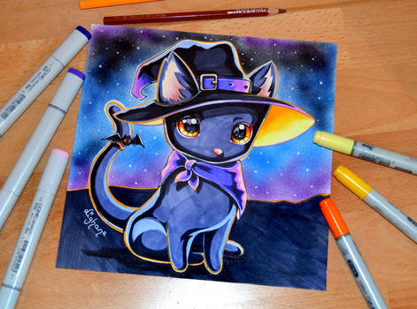 Bewitching Cat with Hat