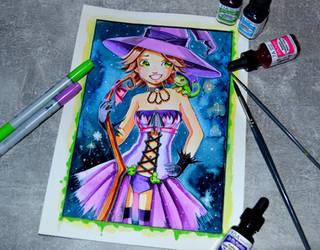 Halloween Disney Witch Rapunzel by Lighane