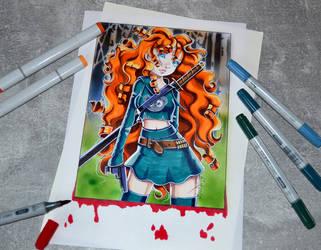 Zombie Slayer Merida by Lighane
