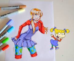 Angelica from Rugrats by Lighane