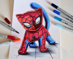 Spidercat by Lighane