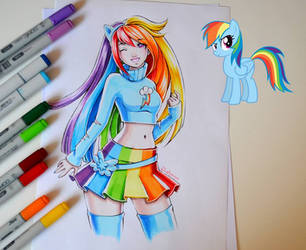 Rainbow Dash by Lighane