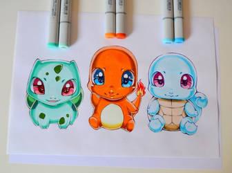 Kawaii Starter Pokemon! by Lighane