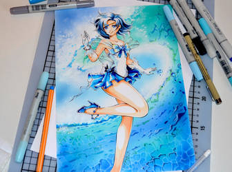 Sailor Mercury Valentine by Lighane