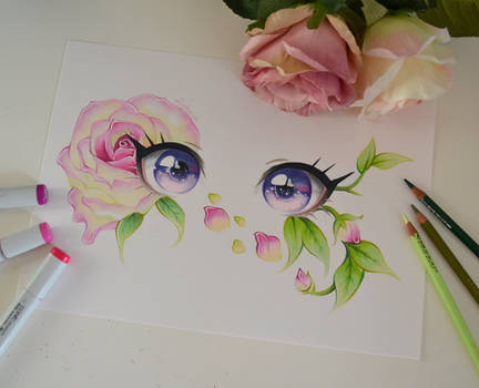 Pinkish Vanilla Rose