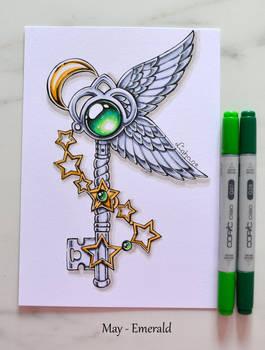 Birthstone Keys (May/Emerald)