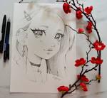 Plum Blossom Portrait #2