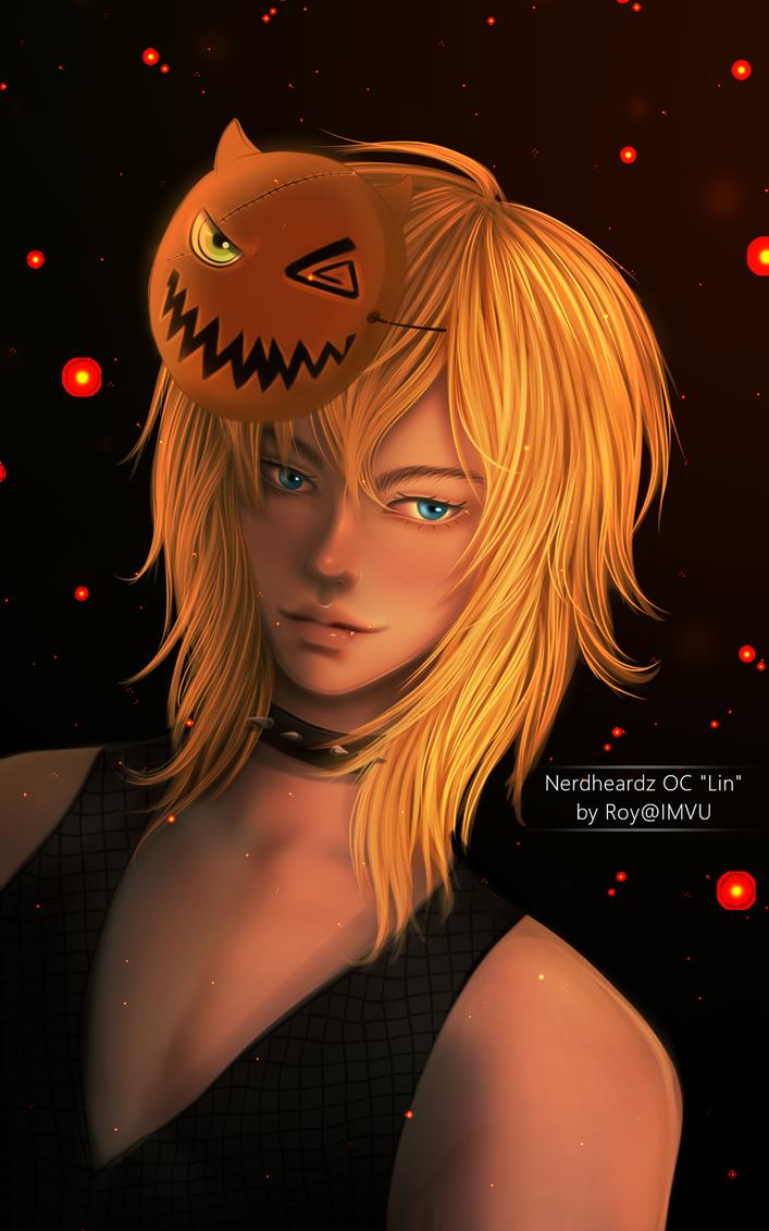 Halloween Art Commission for NerdHeardz by Roy-IMVU