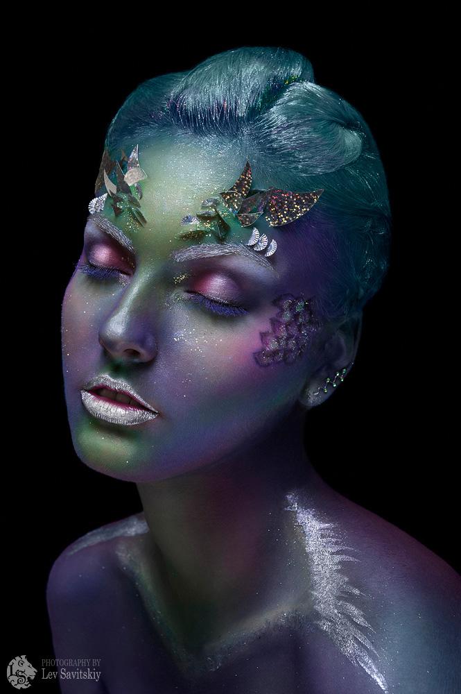 Blue Reptile Face Paint