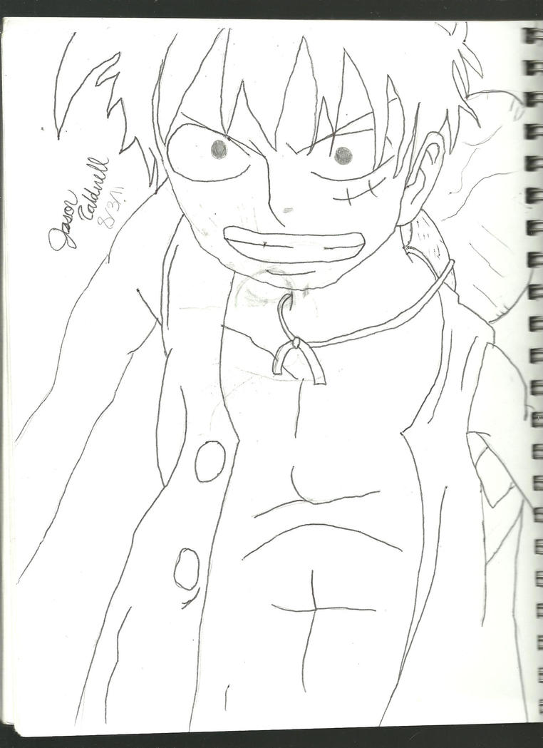 luffy by wizardfan