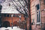 Old snowy street II by AzureFantoccini
