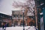 Old snowy street I by AzureFantoccini