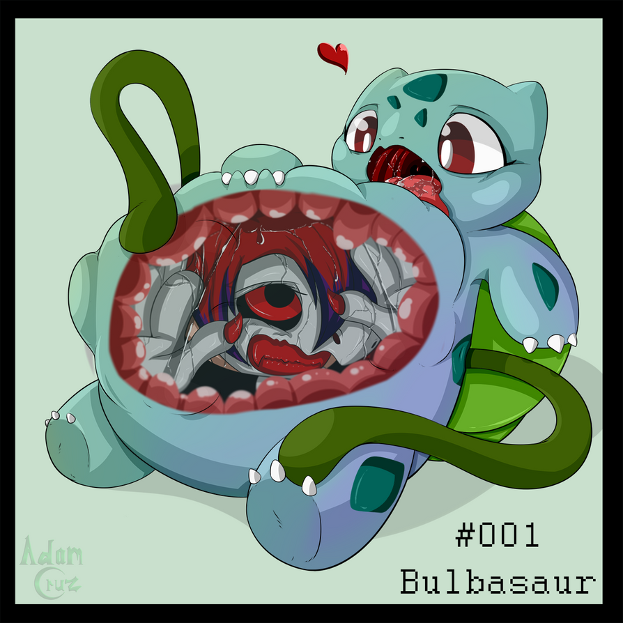 pokevore challenge 001 bulbasaur vore by thegamerdracul on