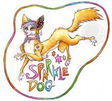 Obligatory Sparkle Dog by CuriousCreatures