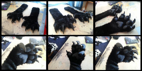 Monstery Handpaws by CuriousCreatures