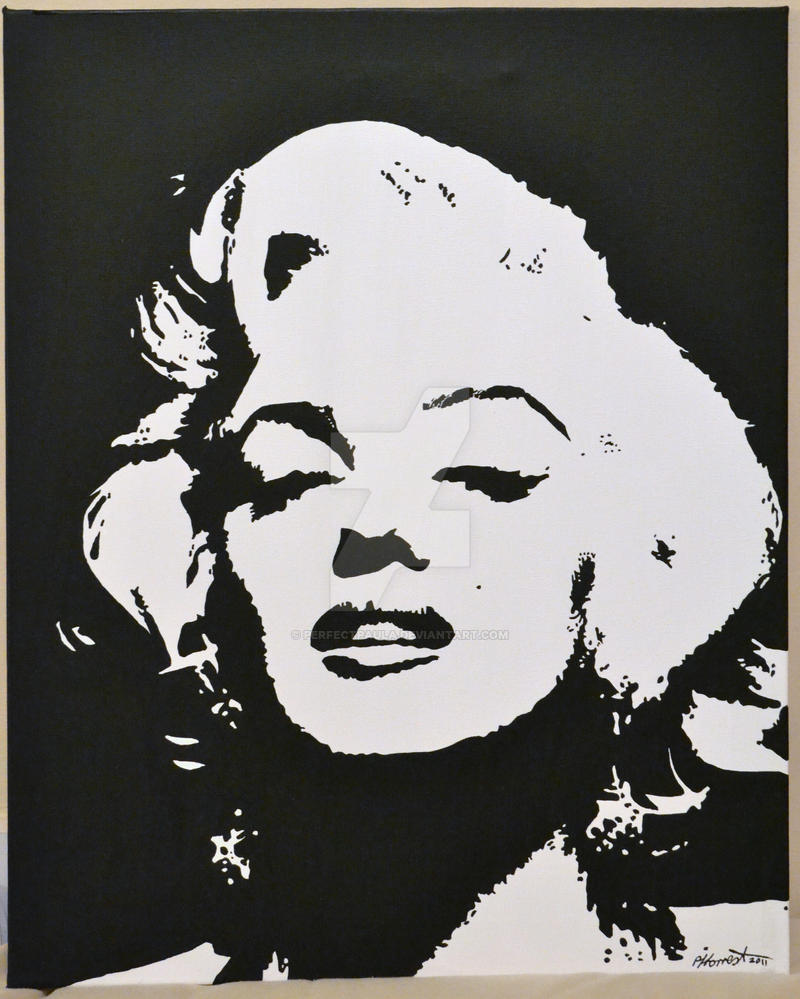 marilyn monroe painting by perfectpaula on deviantart. Black Bedroom Furniture Sets. Home Design Ideas