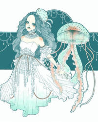 Jellyfish Princess by littletreesprout
