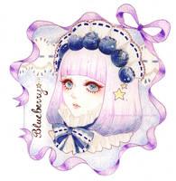 Fruit Girls - Blueberry-chan by littletreesprout