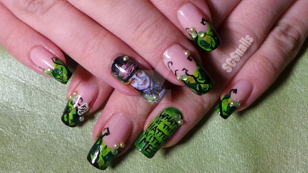 Mad hatter nail art by sugarcharmshop on DeviantArt