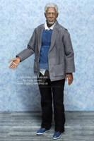 1:12th Morgan Freeman inspired miniature doll