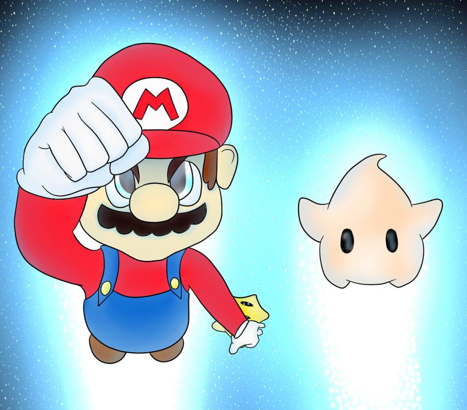 Cosmic Mario by SassTheFamilyKid