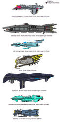 Galaxy in Flames faction ships by MrImperatorRoma