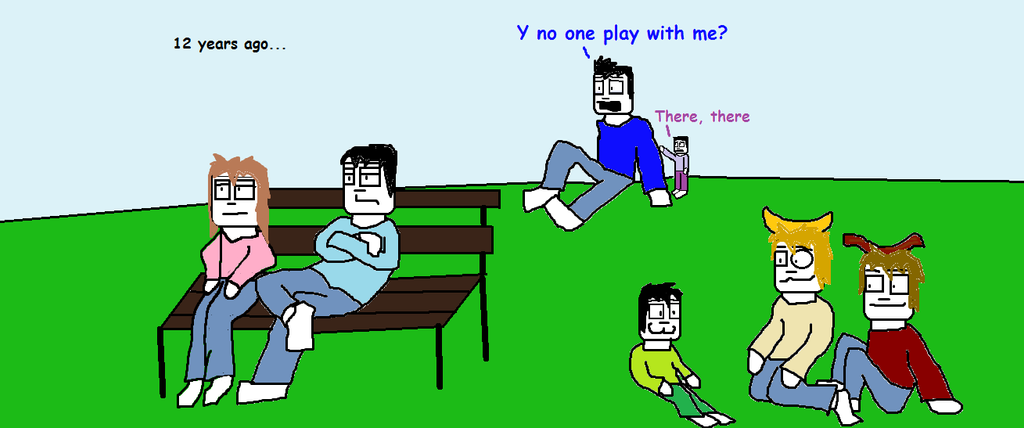 Sam, Mike, Mary and the rest are in a park by tigerclaw64 ...