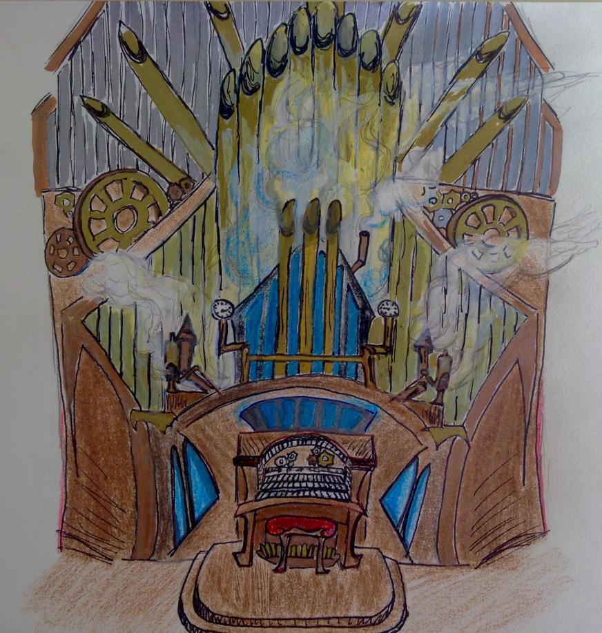 Steampunk Pipe Organ by tigerclaw64