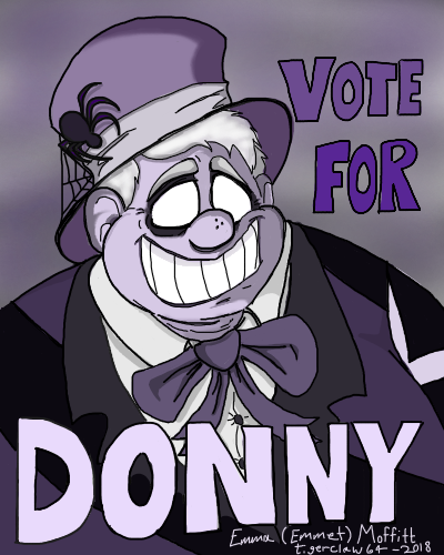 (Digitally updated version) Mayor Donny's Poster by tigerclaw64