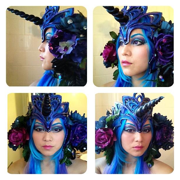 Art Nouveau Nightmare Moon Headdress by soullessYUMEIRU